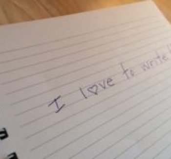 I love to writer notebook paper